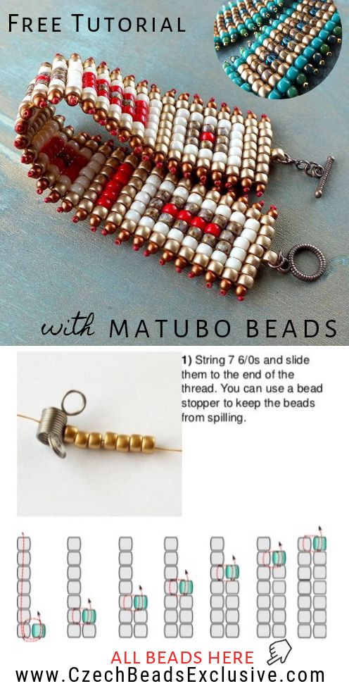 How to Make Square Stitch Beaded Bracelet with Matubo Seed Beads – Easy Tutorial – Beading