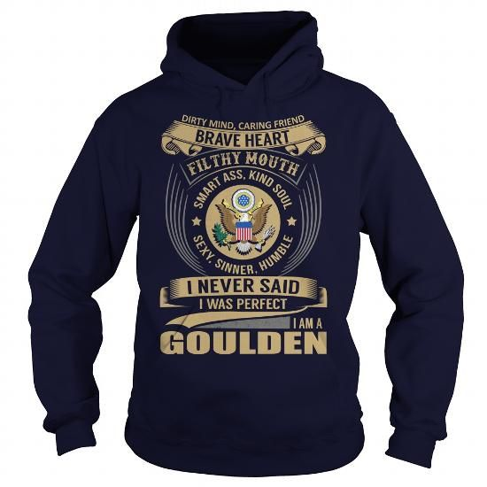 Cool GOULDEN Last Name, Surname Tshirt T shirts