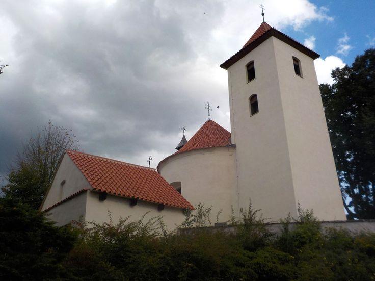 Romanesque rotunda of St.Wenceslas (Václav) in Libouň (Central Bohemia), Czechia