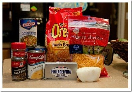 Soups: Paula Deens Potato Soup Crock Pot/   KeepRecipes: Your Universal Recipe Box ( I am making a combination of this one and her baked potato soup -recipe also pinned on this board. Basically I am using Baked potatoes instead of hash browns and adding bacon to this recipe.