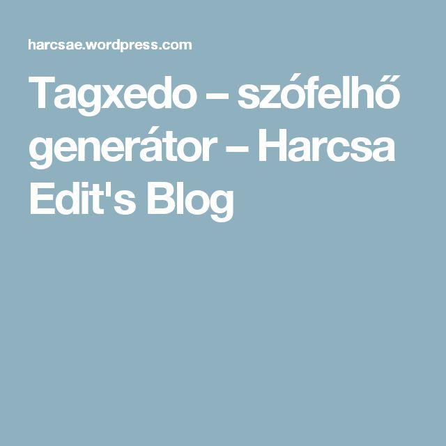 Tagxedo – szófelhő generátor – Harcsa Edit's Blog