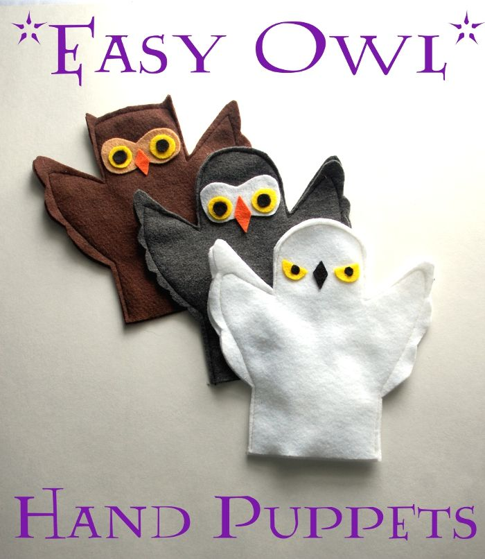 Easy Owl Hand Puppets | Imagine                                                                                           More