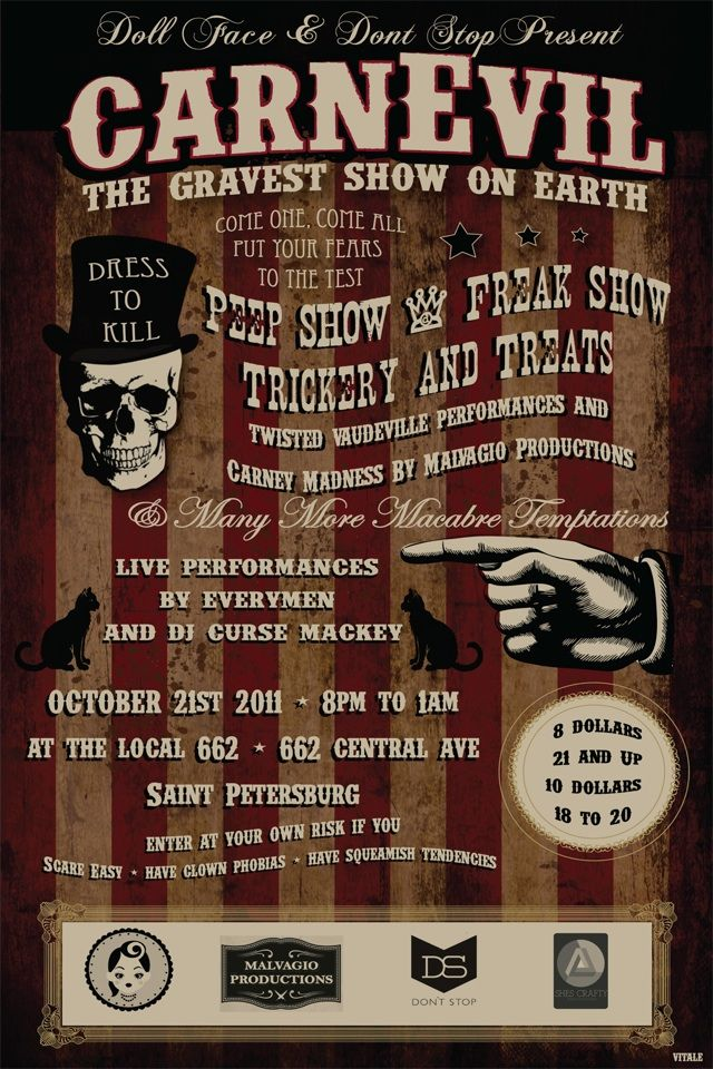 CarnEvil: The Gravest Show on Earth... more invitation inspiration.