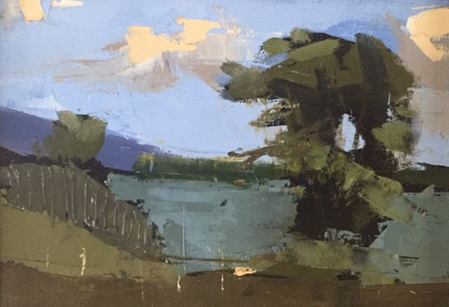 Martin Mooney Landscape Painting Tree Study Lough Swilly, Donegal