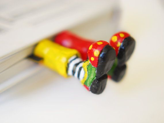 Funny clown bookmark .Children gift. Bright circus par MyBookmark