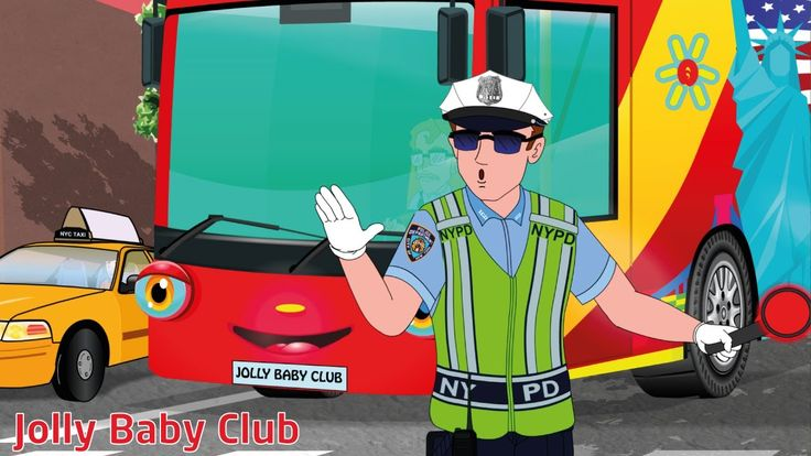 The Wheels On The Bus In New York | Songs For Kids | Nursery Rhymes from...