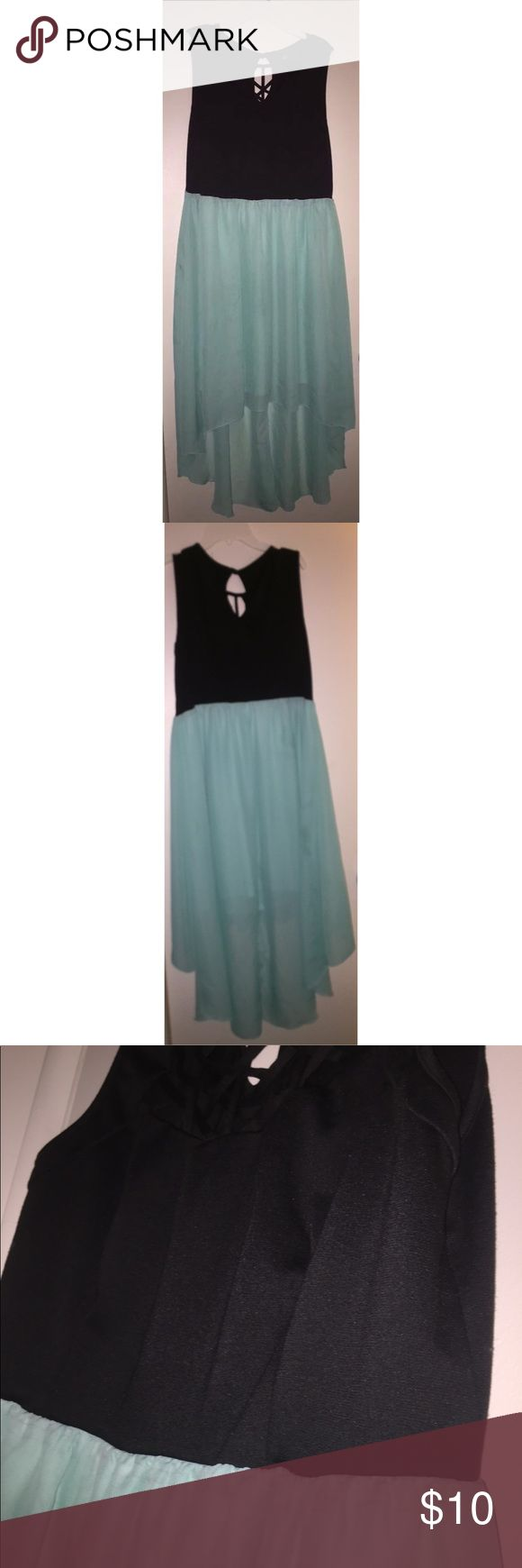 Black and Mint Green High Low Dress from Deb Shops Black and Mint green high low sleeveless dress size 3x from Deb Shops. Worn only a few times. Looks very nice on! Deb Dresses High Low