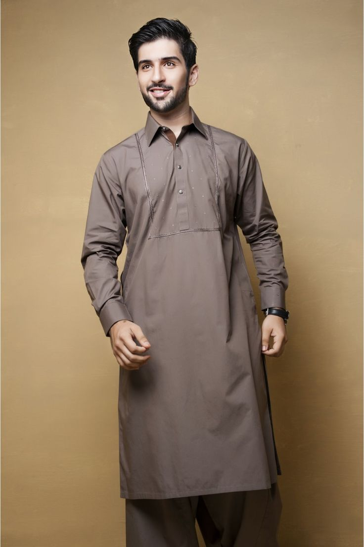 Eid kids kurta shalwar kameez designs 2013 2014 - Brown Men Kurta Shalwar Kameez 49 99 Shalwar Kameez Pakistani Indian Dresses Online Men Women Clothing