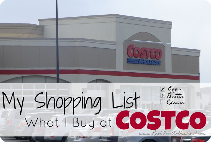 A real food shopping list - great list of real food that you can find at Costco like grass-fed butter, organic salsa, and more.