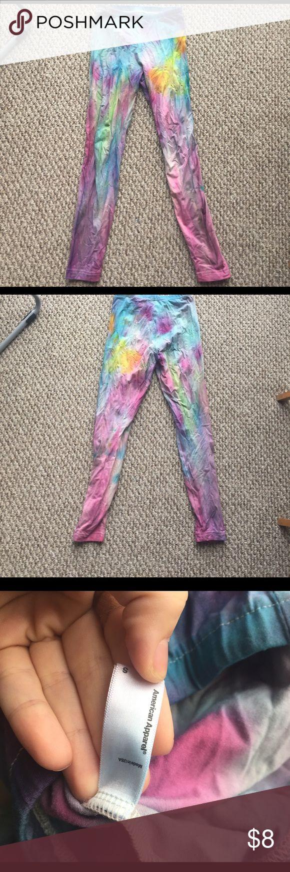 American Apparel tye dye leggings AA tye dye leggings American Apparel Pants Leggings