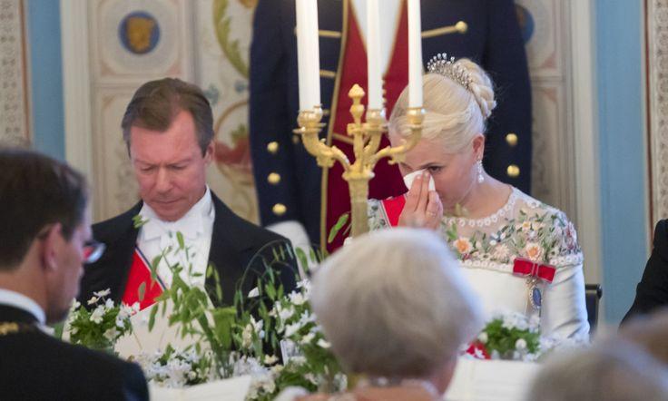 Kong Harald og dronning Sonja 80 år: feiret 9. mai 2017. Kanskje beste bilde av Dronning Mauds vifte diadem og Kronprinsessens fletter.