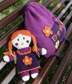 Poupée au tricot et au crochet, et petit sac coordonné Qualité : Lambswool et Oxygène Taille unique Niveau de difficulté : Débutante Paru dans...