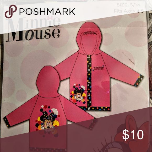 Kids Minnie Mouse Rain Slicker CHILDREN'S BLUE FROZEN RAIN SLICKER  FITS SIZE :4-5    $ 10.00 Jackets & Coats Raincoats