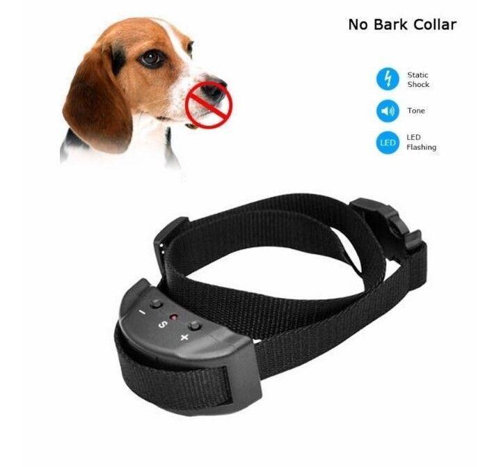 Anti bark dog collar electric shock no barking training control FX3 safe pet new #Nobark