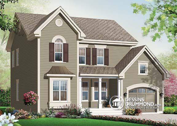 Les 25 meilleures id es de la cat gorie maison americaine exterieur sur pinterest porches l for Plan de maison style americain