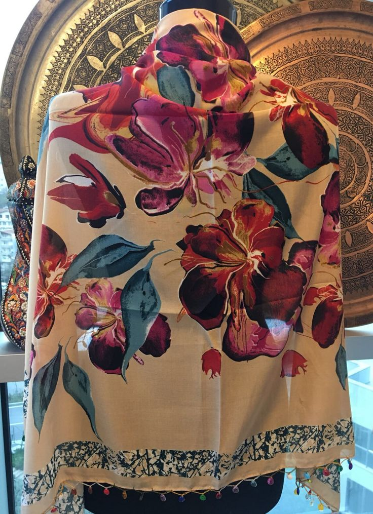 FLORAL TURKISH SCARF, 00020