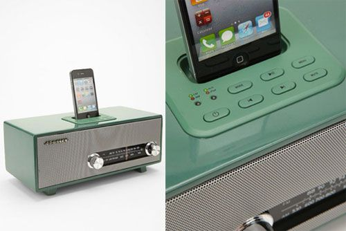 not as nice as the defunct Specktone stereo, but one of the only retro iPod docks.