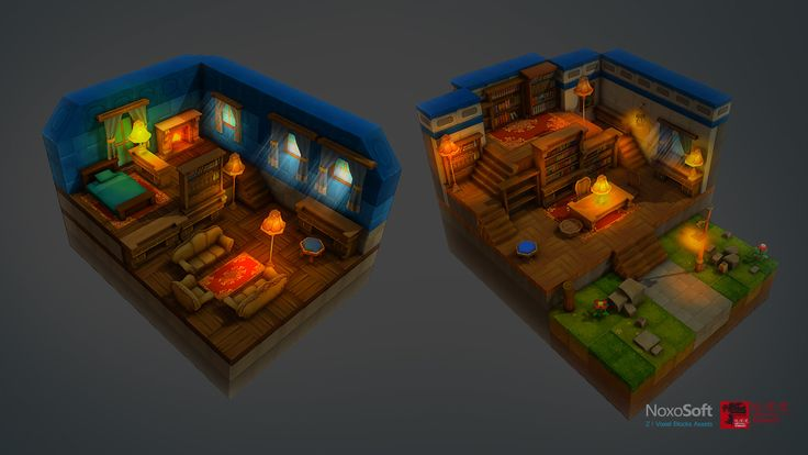 ArtStation - Z ! Voxel Blocks Assets, shi lei
