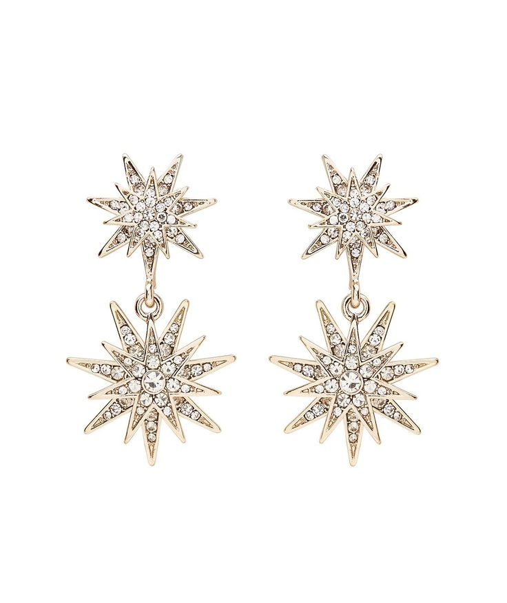 GOLD STAR STATEMENT EARRING