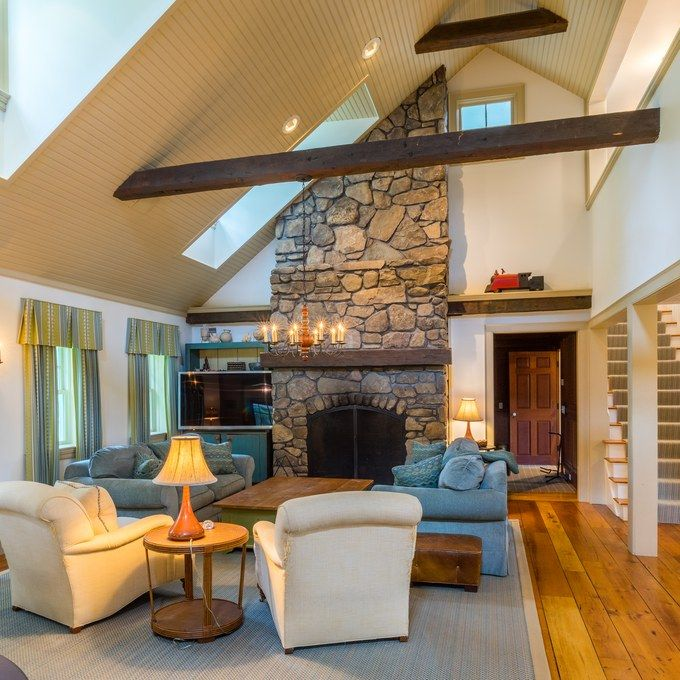 This $6.9 Million Historic Vermont Farmhouse Is Quintessential America.  House GuestsHouse 2Living Room FurnitureFamily ...