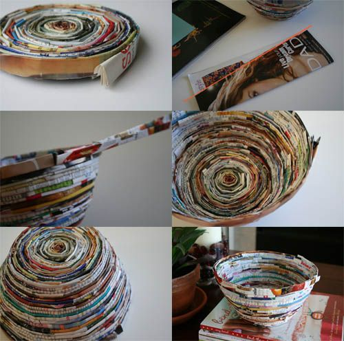 One of our writers made a magazine bowl for my managing editor, and now I'm DYING to give it a whirl.