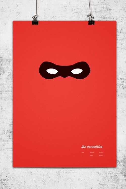 Affiches minimalistes des films PIXAR