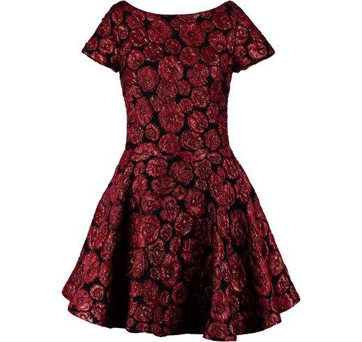 Plein Sud Sukienka koktajlowa rot zalando czerwony abstrakcyjne wzory