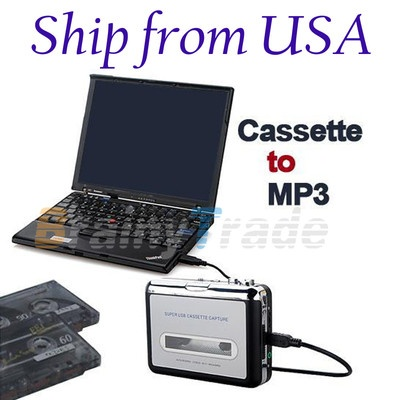 Save your old songs on computer!!  Tape to PC Super USB Cassette-to-MP3 Converter Capture Audio Music Player NEW
