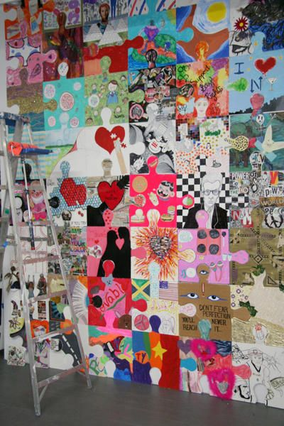 puzzle project • commons space • collaborative art project