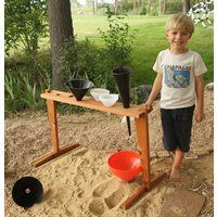 Kodo Kids™ Outdoor Funnel Stand-Our Outdoor Funnel Stand will be happy living in your sandbox or outdoor play area.