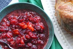 This was a staple in my house growing up through the holidays! <3  cranberry sauce recipe, cranberry conserve