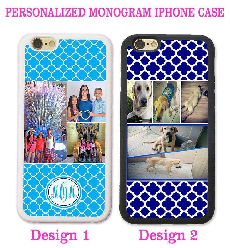 PERSONALIZED PHOTO NAVY BLUE QUATREFOIL Case For iPhone 7 6S 6 SE 5 Custom IMAGE #UnbrandedGeneric
