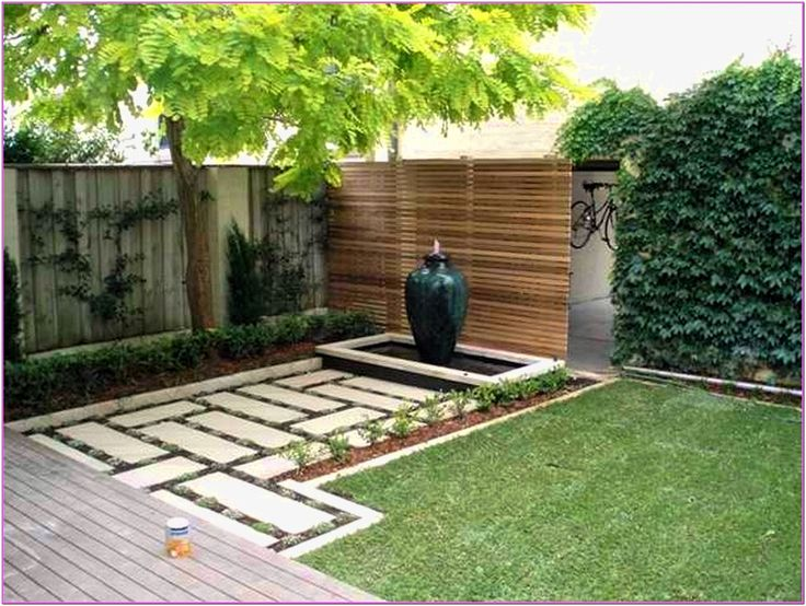 Inexpensive Backyard Design With Large Jar And Stone Texture Desain Under  Tree | Outdoors Home Ideas