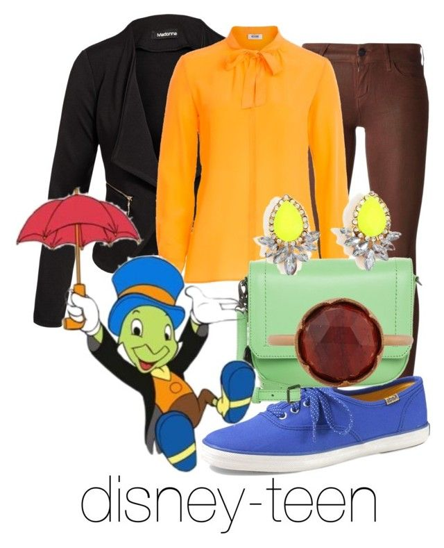 """Jiminy Cricket"" by disney-teen ❤ liked on Polyvore featuring Koral, Keds, Tt Collection, Moschino Cheap & Chic, DKNY, Irene Neuwirth, women's clothing, women, female and woman"