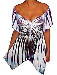 New Funfash Plus Size Women Slimming Tiger Empire Waist Top Shirt Blouse Made in USA online. Find the perfect Three Dots Tops-Tees from top store. Sku UVHT69341WDFK79280