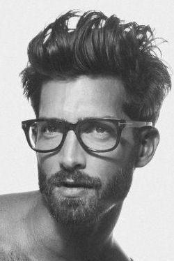 Handsome Bearded Young Man Glasses Men With Glasses