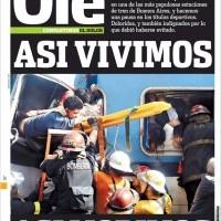 19 diarios usaron la misma foto en tapa para amostrar la tragedia de Once