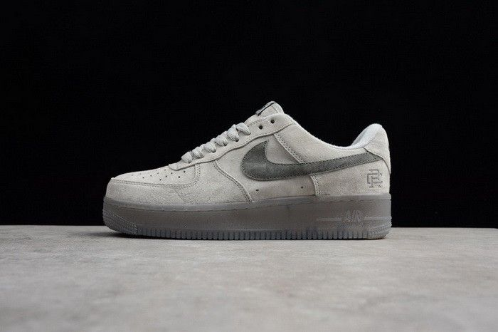 Reigning Champ x Nike Air Force 1 Low 07 LV8 Suede Light Grey Black AA1117- 305737272