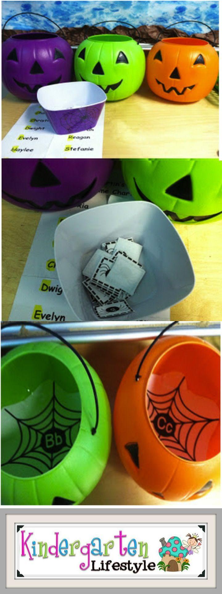 A Kindergarten Lifestyle - Spidery letter font sorting for kindergarten....