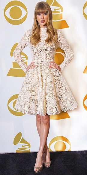 T. Swift in Maria Lucia Hohan & Jimmy Choo @ Grammy Nominations Concert in Nashville.