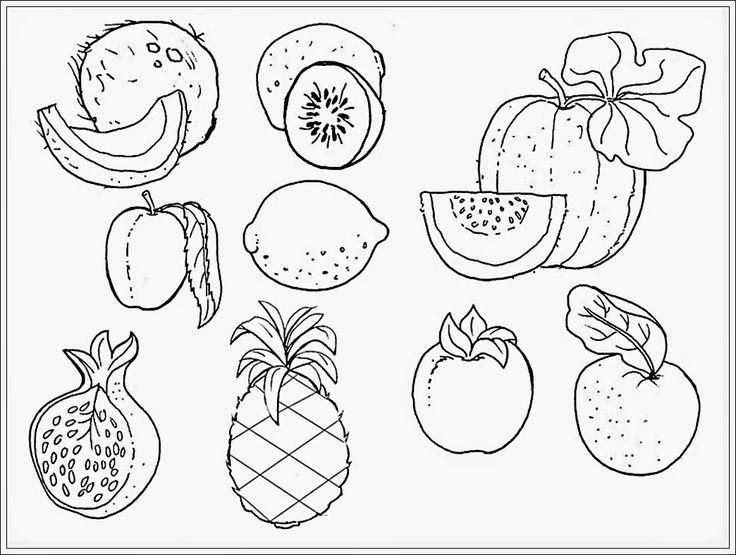 mewarnai gambar buah buahan