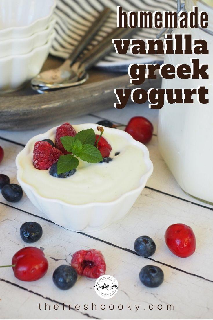 Homemade Creamy Greek Yogurt The Fresh Cooky Recipe In 2020 Greek Yogurt Recipes Homemade Greek Yogurt Yogurt Recipes