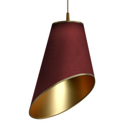 LAMPA wisząca FOGLIE DI SOLE 8030106 #mlamp #oświetlenie #lampa #wisząca #design #wystrój #wnętrz #bordowa #złota #orientalna #orient