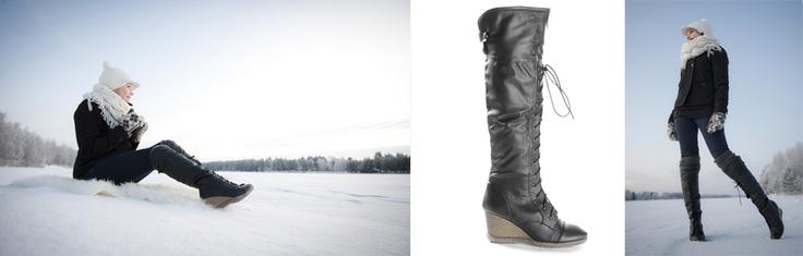 Talviset kiilasaappat - Winter wedge boots
