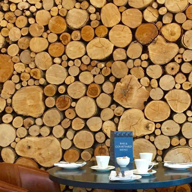 Log display at the Swan Inn, Bibury.