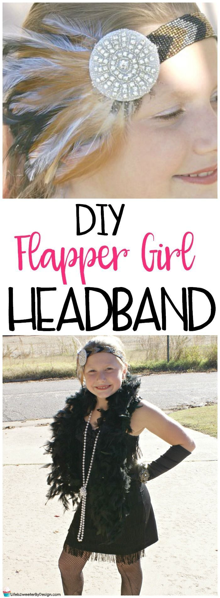 A flapper girl costume is so cute for Halloween. Find out how to make a Flapper Girl Headband at home! A simple DIY that will make your child's Halloween costume stand out and save you money at Halloween!