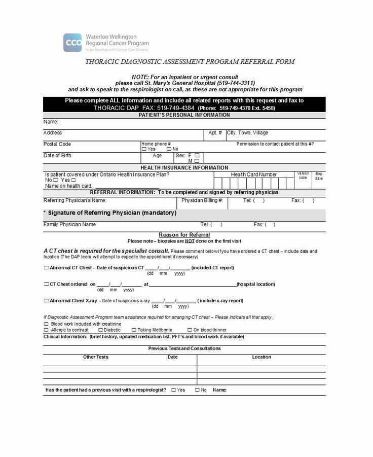 Physician Referral form Template Luxury 50 Referral form