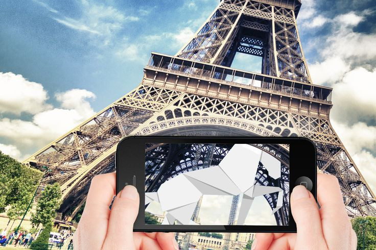 Torre Eiffel e cavallo in 3D ViewTwoo