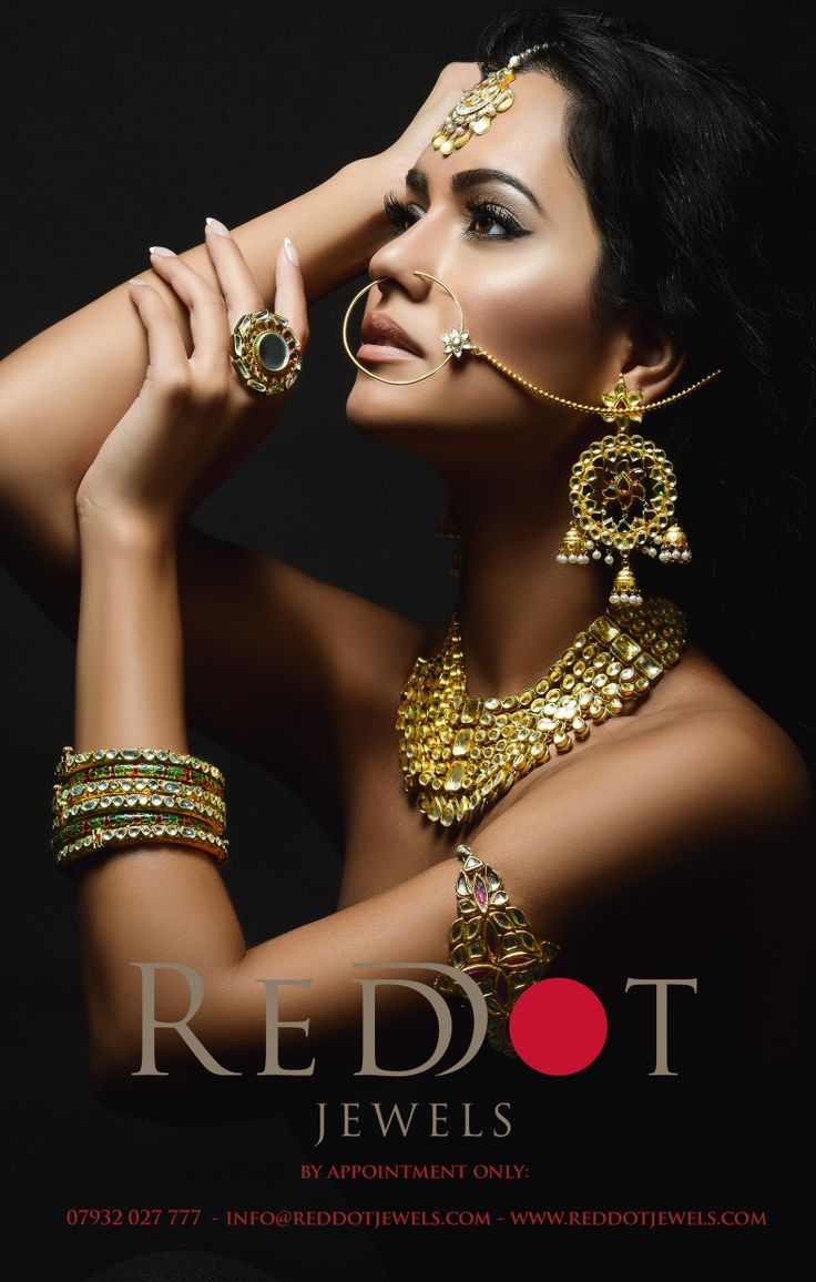 Bridal look#1 from Red Dot Jewels courtesy of Khush Magazine