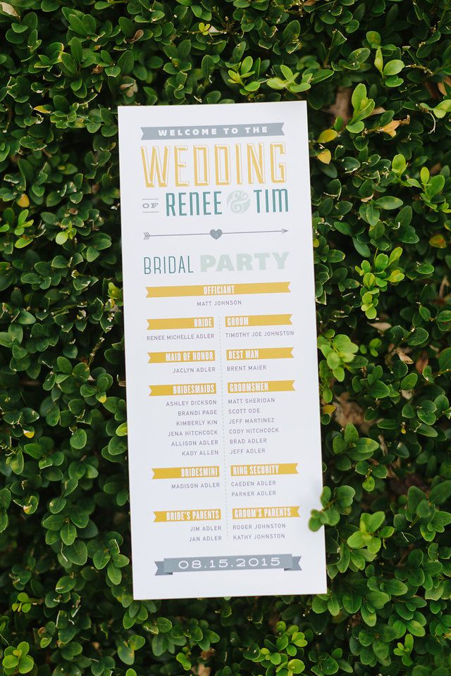 Vintage, Michigan Wedding, Wedding Decor, James Saleska Photography, Wedding Photography, Mustard, Mint, Teal, Peacock, White, Homemade, DIY Wedding, Vintage Wedding, Wedding Decor, Ceremony Table, Outdoor Wedding, Summer Wedding, Programs, Graphic Design, Modern Design, Typography